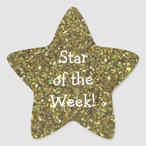 Stickers - STUDENT STAR OF WEEK GOLD GLITTER STAR