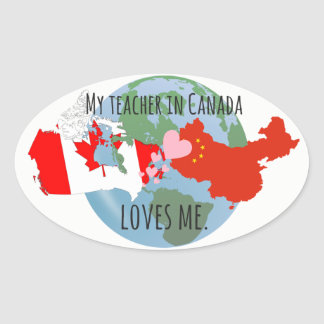 Stickers to Send to Students: Canada, Love