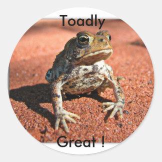 Stickers/Toadly, Great ! Round Sticker