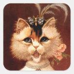 STICKERS Victorian Singing Parlour Cat Jewel