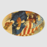 Stickers Vintage Uncle Sam USA Travel Luggage