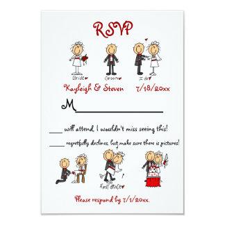 Stickfigure RSVP 3.5x5 Paper Invitation Card