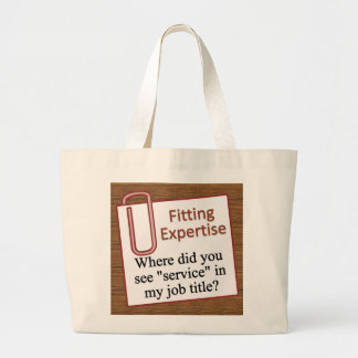 Sticking to your area of expertise jumbo tote bag
