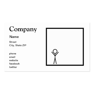 Stickman Pack Of Standard Business Cards