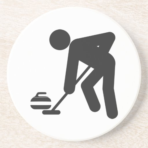 Stickman curling sweeper coasters