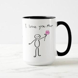 Stickman - I love you mum - Awesome mum - Mother Mug