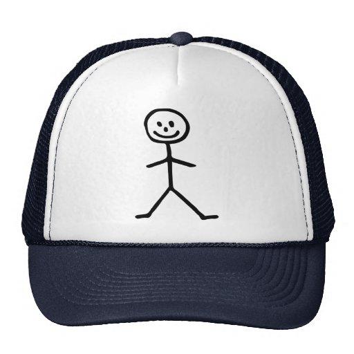 Stickman man hat