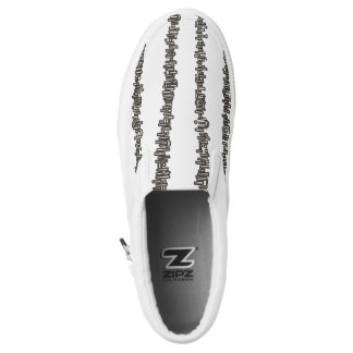 Sticks And Stones- Black And White Modern Stripes Slip On Shoes