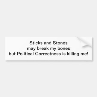 Sticks and Stones Bumper Sticker