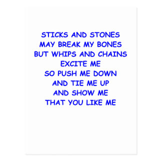 sticks and stones postcard