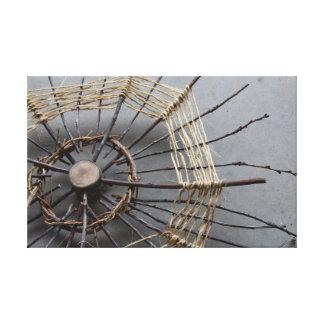 Sticks String & Vines Nature Art Sculpture Oblique Canvas Print
