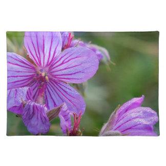 Sticky geranium wildflowers placemat