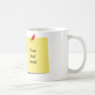 Sticky Note Mug Template - Add Your Own Text!