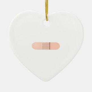 Sticky Plaster Ceramic Heart Decoration