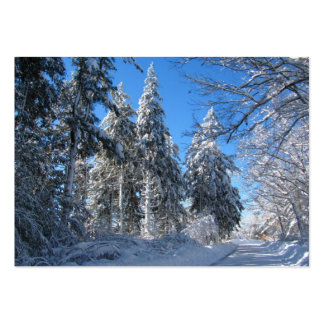 Sticky Snow 32 ~ ATC Pack Of Chubby Business Cards