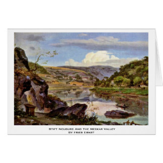 Stift Neuburg And The Neckar Valley By Fries Ernst Greeting Card
