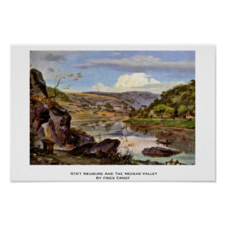 Stift Neuburg And The Neckar Valley By Fries Ernst Print