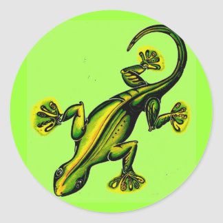 Stik like-a-lizard classic round sticker