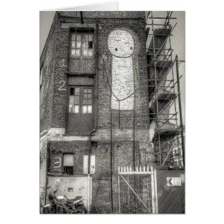 Stik Man Graffiti, Shoreditch London Card