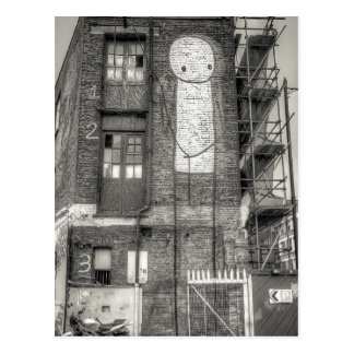 Stik Man Graffiti, Shoreditch London Postcard