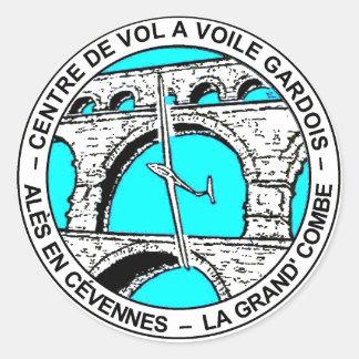 """Stiker sailplane """"CVVG """" Round Sticker"""