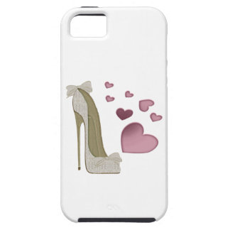 Stiletto and Pink Hearts Electronic Cases iPhone 5 Covers