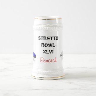 stiletto bowl game day beer stein beer steins