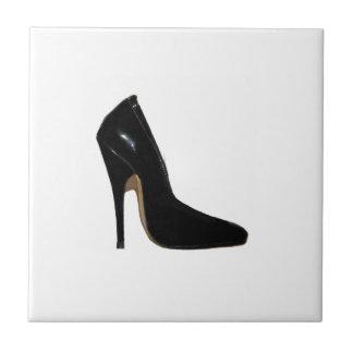 Stiletto Heel Right Side Black The MUSEUM Zazzle Small Square Tile