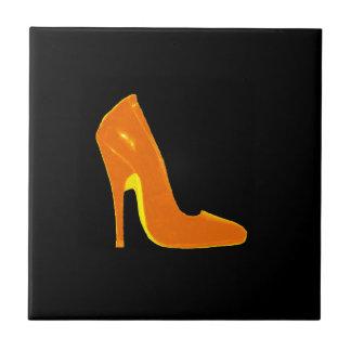 Stiletto Heel Right Side Gold The MUSEUM Zazzle Small Square Tile