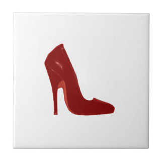 Stiletto Heel Right Side Red The MUSEUM Zazzle Small Square Tile