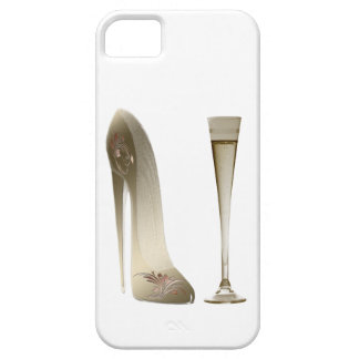 Stiletto High Heel Shoe Art and Champagne Gifts iPhone 5 Case