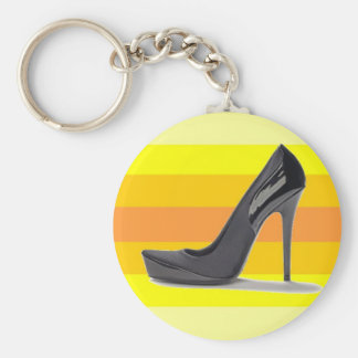 Stiletto Pride Basic Round Button Key Ring