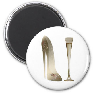 Stiletto Shoe and Champagne Magnet