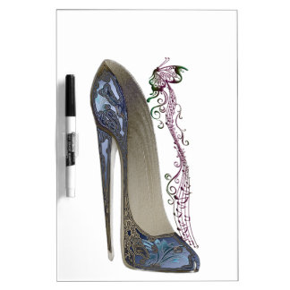 Stiletto Shoe Art Dry Erase Boards