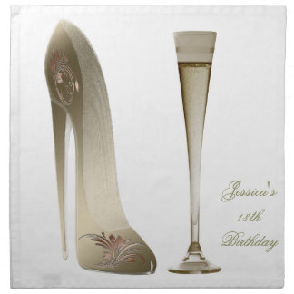 Stiletto Shoe Art Napkins