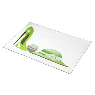 Stiletto shoe art placemats