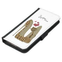 Stiletto's and Cat Gallaxy S5 Wallet Case