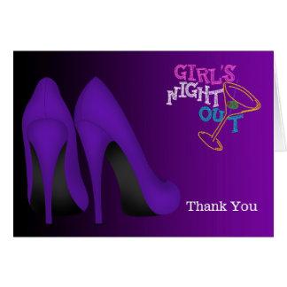 Stilettos Thank You Greeting Card
