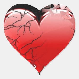 STILL A BROKEN HEART HEART STICKER