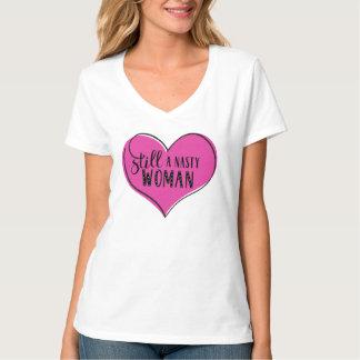 """""""Still a Nasty Woman"""" Heart Pink/Black T-Shirt"""