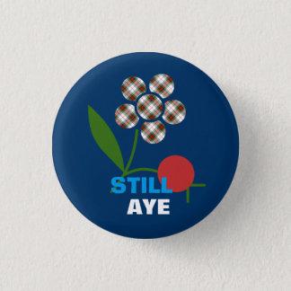 Still Aye Tartan Flower Scots Independence Badge