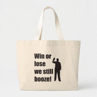 still booze large tote bag