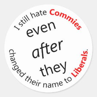 Still Hate Commies Round Sticker