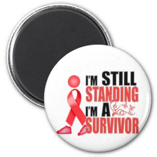 Still Heart Disease Survivor 6 Cm Round Magnet