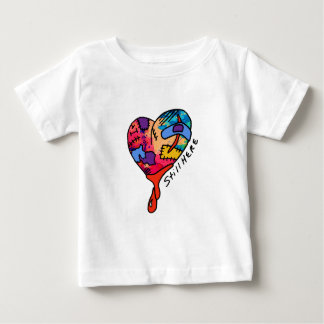 Still Here Patchwork Heart of Many Colors Baby T-Shirt
