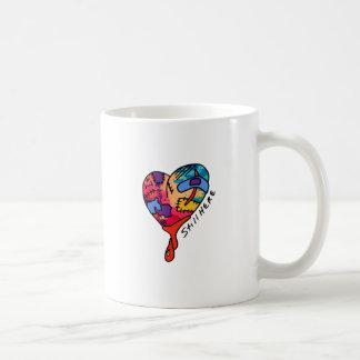Still Here Patchwork Heart of Many Colors Basic White Mug