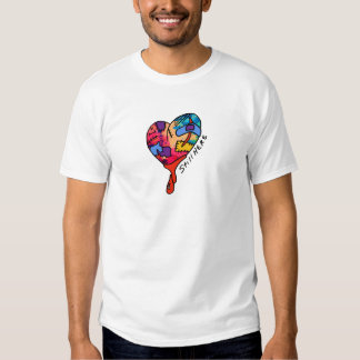 Still Here Patchwork Heart of Many Colors Shirt