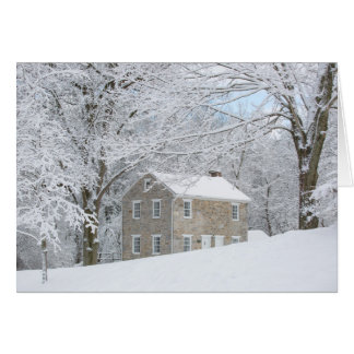 Still House behind snowy bank Card