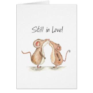 Still in Love - Two cute kissing Mice Card