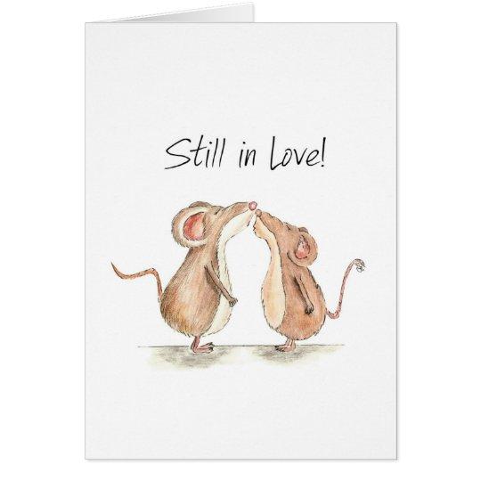 Still in Love - Two cute kissing Mice